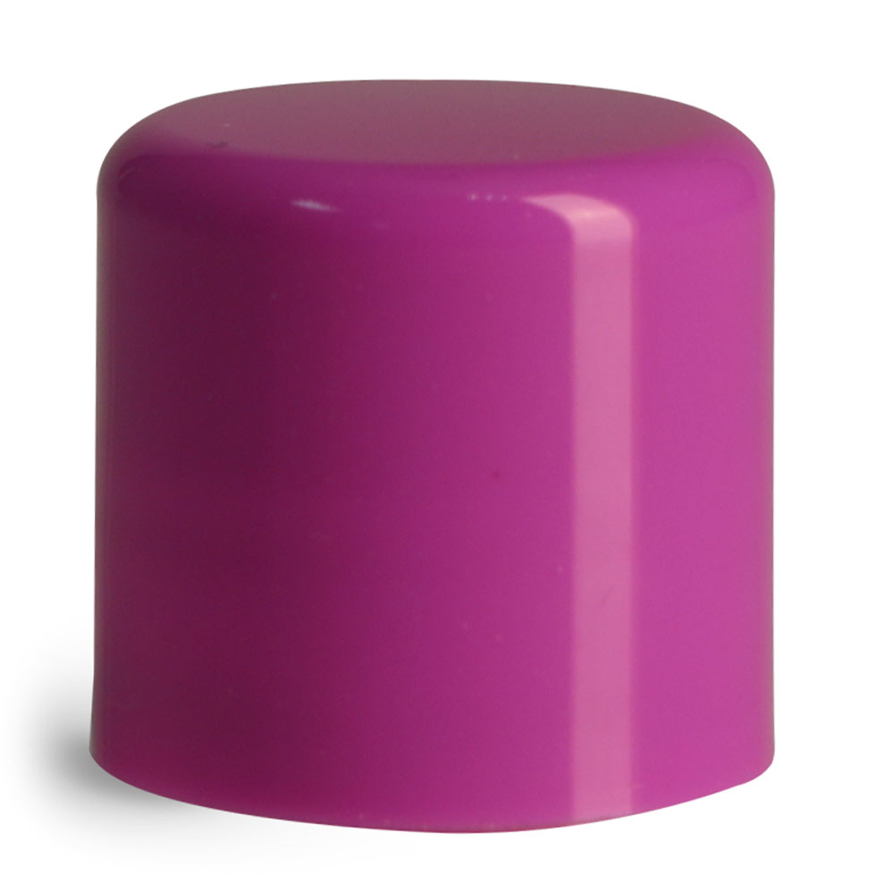 14 mm Purple Smooth Polypropylene Friction Fit Caps for Lip Balm Tubes