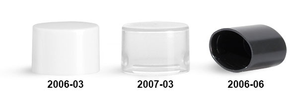 Plastic Caps, Smooth Polypropylene Friction Fit Caps For Oval Lip Balm Tubes