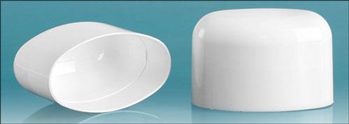 Plastic Caps, White Polypropylene Dome Caps For White Deodorant Tubes