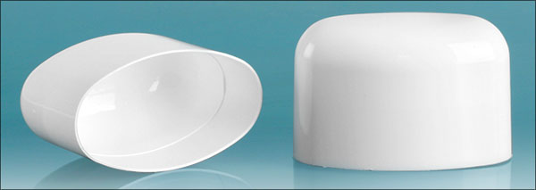 Plastic Caps, White Polypropylene Dome Caps For White Deodorant Tubes