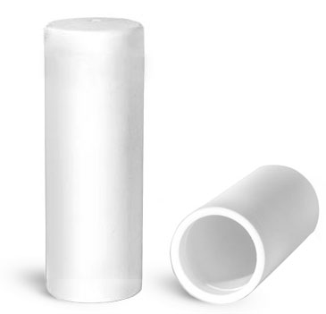 Plastic Caps, White Polypropylene Caps for 0.20 oz Lip Balm Tubes