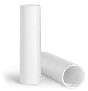 Plastic Caps, White Polypropylene Caps for 0.07 oz Slant Tip Lip Balm Tubes