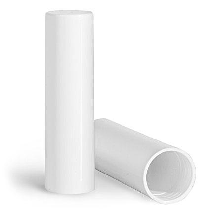 Plastic Caps, White Polypropylene Caps for 0.07 oz Slant Tip Lip Balm Tubes