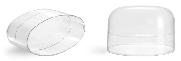 Plastic Caps, Natural Polypropylene Dome Caps for Natural Deodorant Tubes