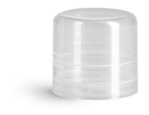 Plastic Caps, Natural Smooth Polypropylene Friction Fit Caps For Round Lip Balm Tubes
