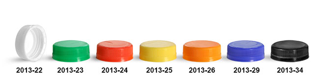 Plastic Caps, Ribbed Polypropylene Tamper Evident Caps