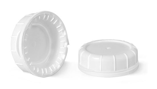 Plastic Caps, White LDPE Tamper Evident Caps