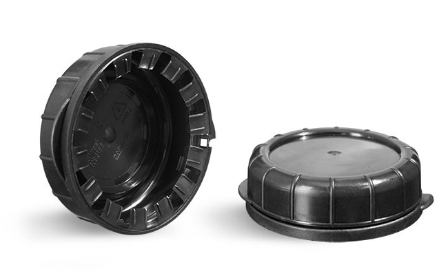 Plastic Caps, Black LDPE Tamper Evident Caps