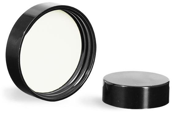 Black Phenolic PV Lined Caps