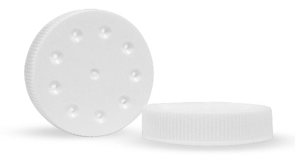 Plastic Sifters, White PE Plastic Sifter Caps