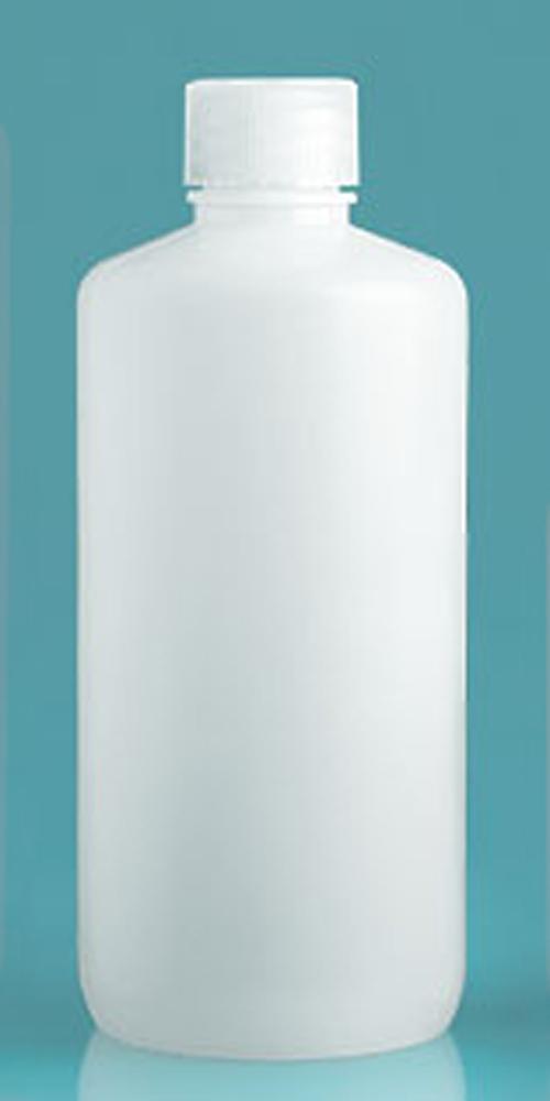 Natural Polypropylene Narrow Mouth Leak Proof Water Bottles w/ Caps