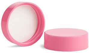 Pink Polypropylene Smooth Lined Caps