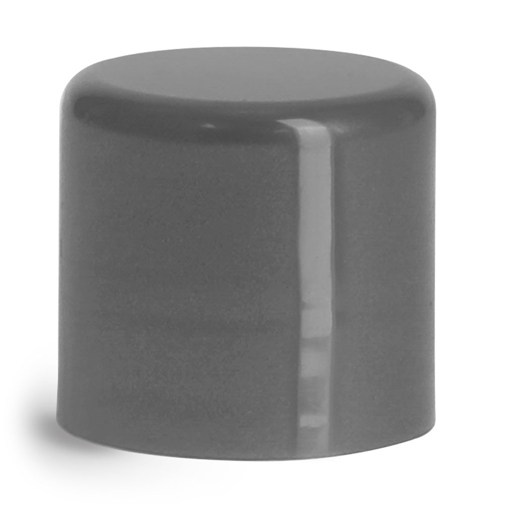14 mm Silver Smooth Polypropylene Friction Fit Caps for Lip Balm Tubes