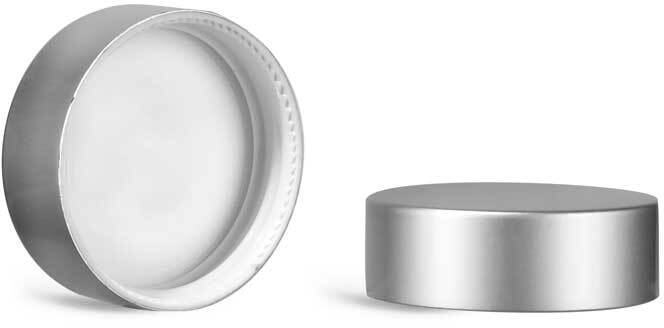 Matte Silver Polypropylene Caps w/ PE-F217 Liners