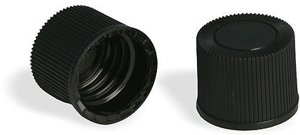 Black Polypro Ribbed Unlined Closures