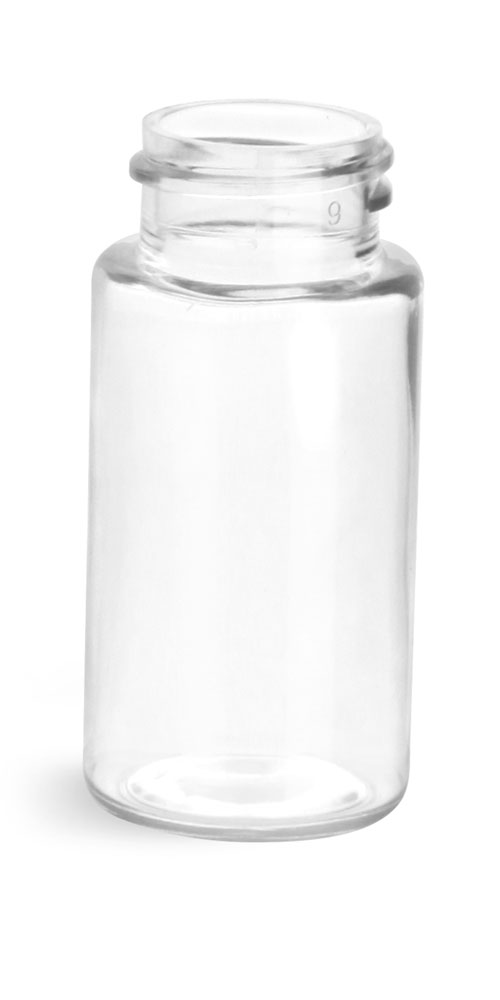 20 ml Plastic Vials, Clear PET Sample Vial, (Bulk) Caps Not Included