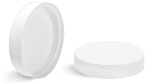 White Smooth Plastic Unlined Caps