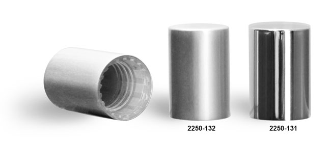 Plastic Caps, Silver Polypro Caps For Glass Roll On Containers