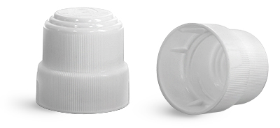 Child Resistant Caps, White Polypropylene Child Resistant Caps For 3 oz Roll On Containers