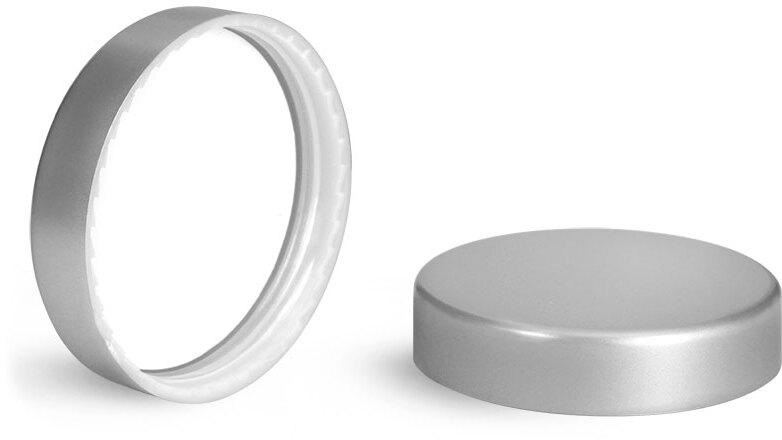 Silver Matte PE Lined Caps