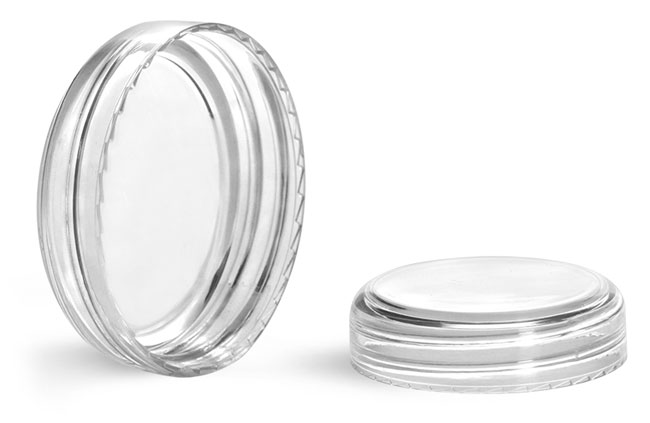 Plastic Caps, Clear Styrene Dome Caps
