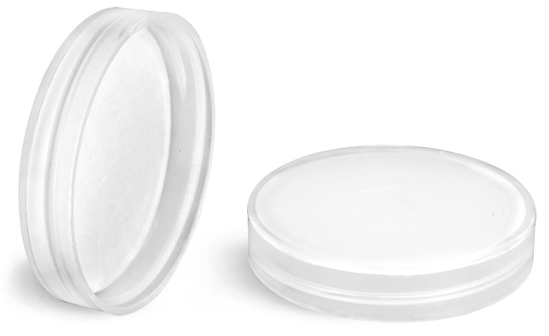 Plastic Caps, Natural Polypropylene Smooth Caps w/ PS-22 Plain Liners