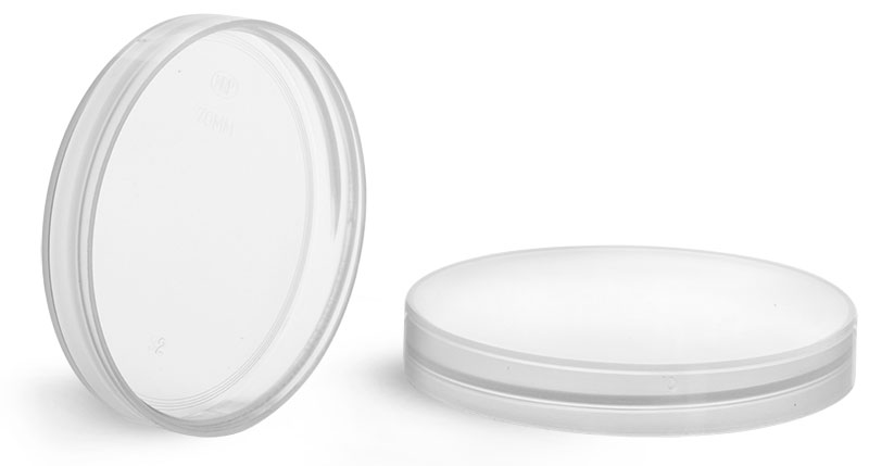Plastic Caps, Natural Polypropylene Smooth Unlined Caps