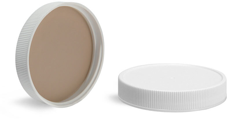 White Polypro Closure w/ Bonded 60 mil PTFE/Silicone