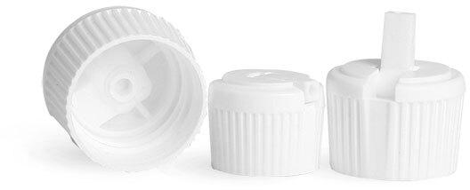 White Plastic Spout Caps