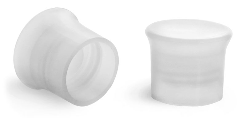Plastic Caps, Natural Smooth Caps
