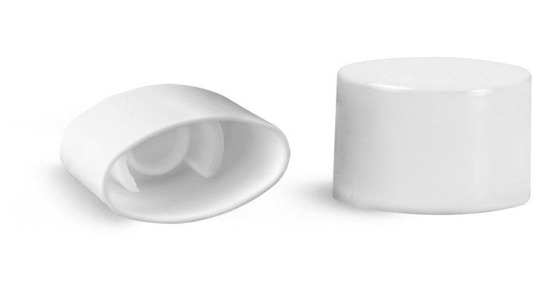 Plastic Caps, White Smooth Plastic Caps