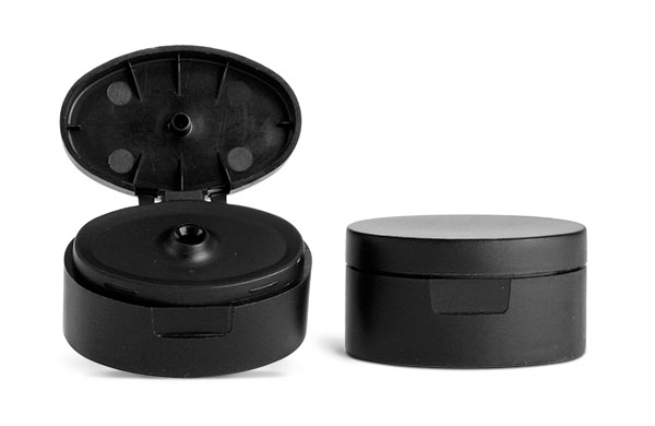 22 mm Black Plastic Snap Top Caps (Bulk)