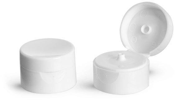 White Smooth Snap Top Dispensing Caps