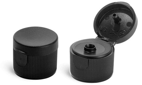 Black Polypro Ribbed Snap Top Caps