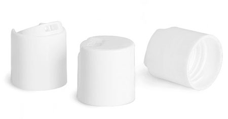 Dispensing Caps, White Smooth Disc Top Caps