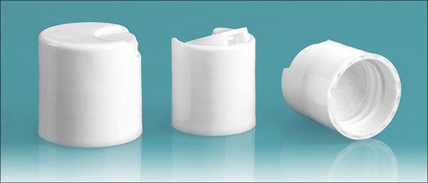 Dispensing Caps, White Disc Top Caps w/ PS22 Liners