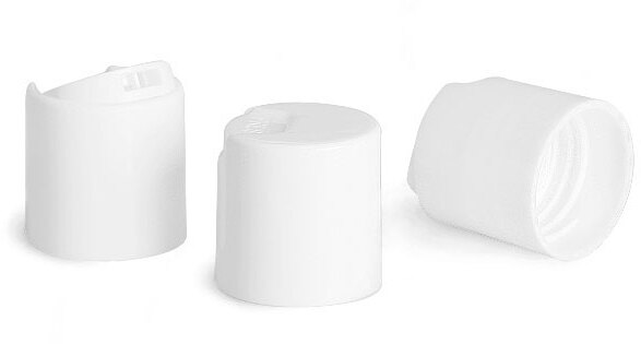 White Smooth Disc Top Caps (Bulk)