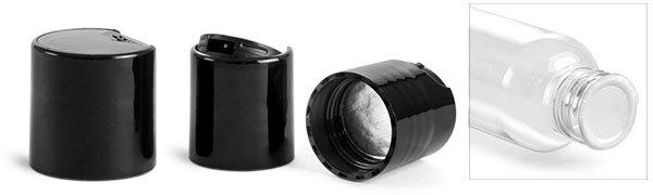 Dispensing Caps, Black Disc Top Caps w/ Foam Induction Liners