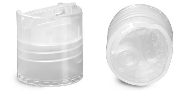 Dispensing Caps, Unlined Smooth Natural Disc Top Caps