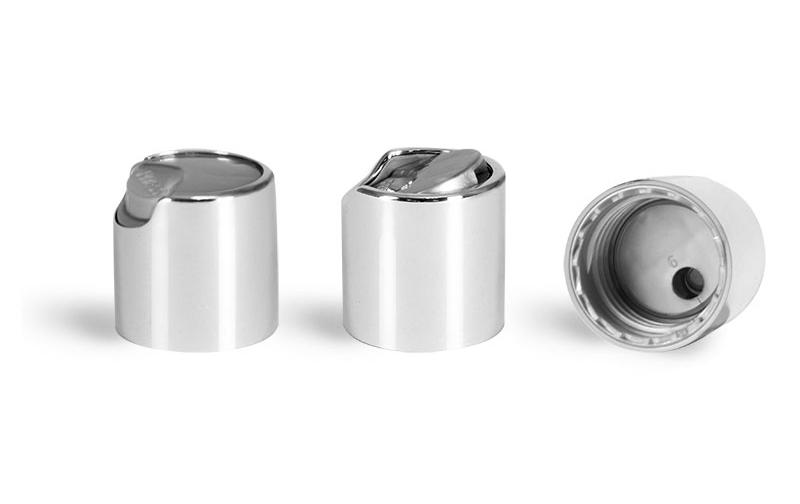 Silver Disc Top Caps