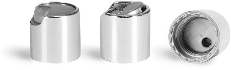 Dispensing Caps, Silver Disc Top Caps