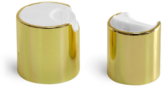 Gold Metalized Disc Top Caps