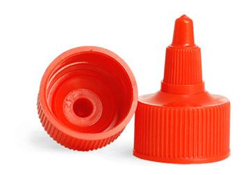Dispensing Caps, Red Twist Top Caps