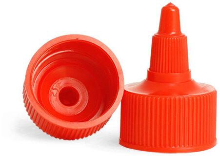 Red Twist Top Caps