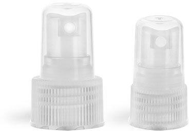 Sprayers, Natural Ribbed Fine Mist Sprayers