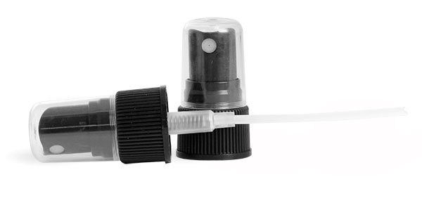 Sprayers, Black Ribbed Fine Mist Sprayers