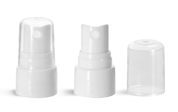 Plastic Caps, White Smooth Fine Mist Sprayers