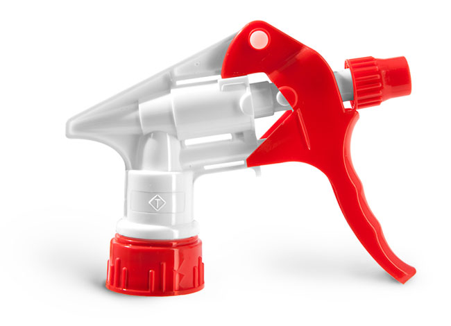 Trigger Sprayers, Red and White Trigger Sprayers With Gaskets