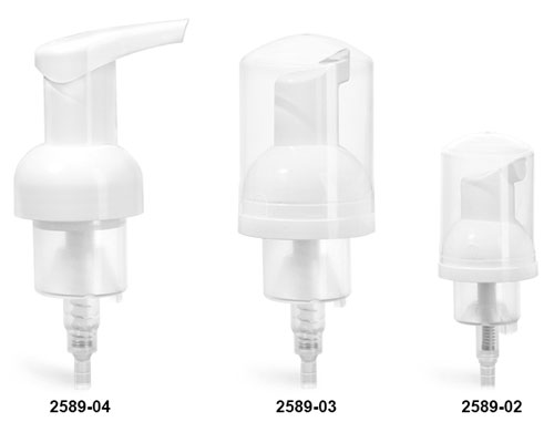 Foaming Pumps, White Polypropylene Foamer Pumps