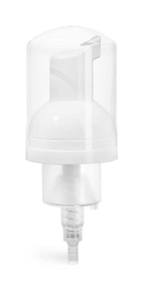 43 mm White Polypro Foamer Pump w/ Clear Hood